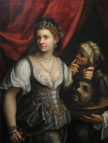 "Fede Galizia,  ""Judith with the Head of Holofernes, ""1596, oil on canvas, 116.8 x 9.2 cm, John and Mable Ringling Museum of Art, Sarasota, Florida, USA"