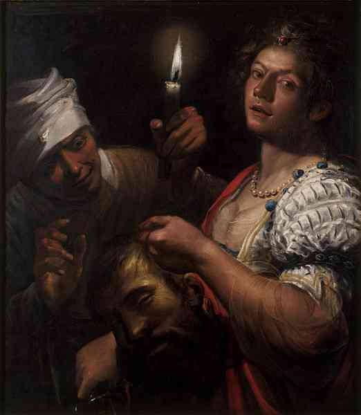 "Matteo Ponzoni, ""Judith Holding the Head of Holofernes,"" c.1650, oil on canvas, 90.3 x 79.4 cm, Victoria and Albert Museum, London, UK"