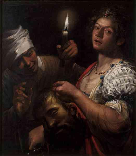 "Matteo Ponzoni, ""Judith Holding the Head of Holofernes,"" c.1650, oil on canvas, 90.3 x 79.4 cm, Victoria and Albert Museum, London, UK"
