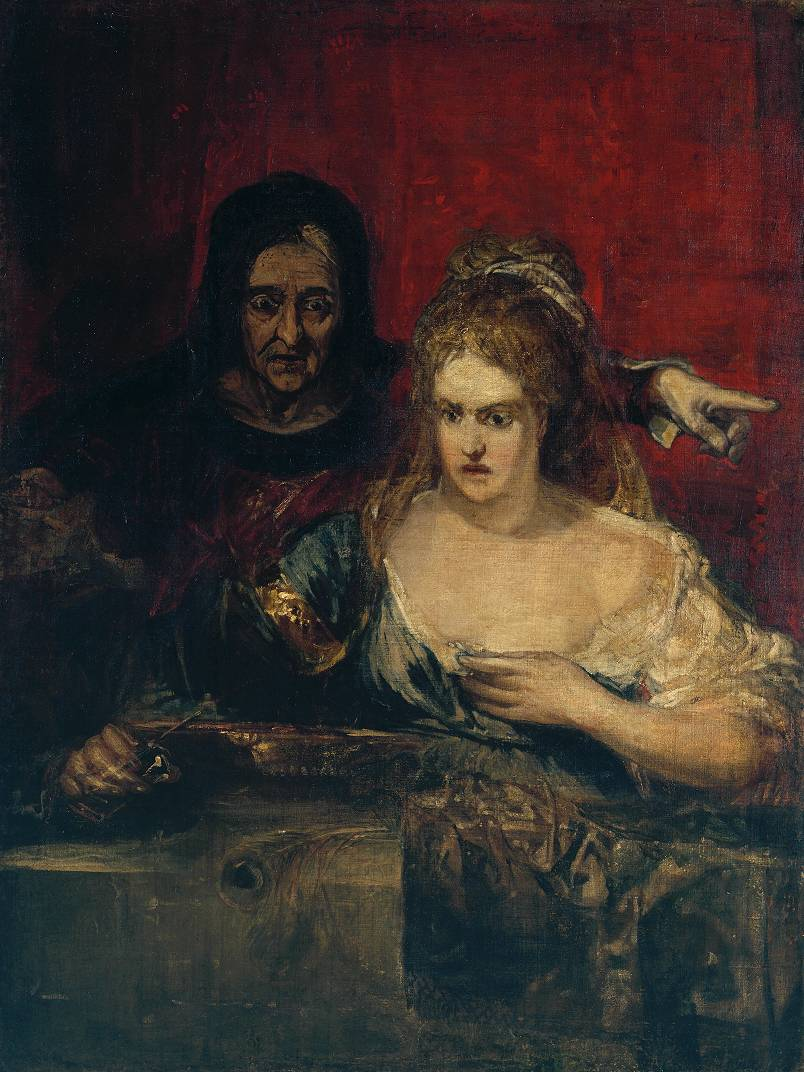 The Procuress; (?) Judith with the Head of Holofernes ?circa 1828 by Joseph Mallord William Turner 1775-1851