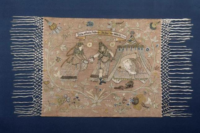 Judith (1608) Linen embroidery:Leinenstickerei