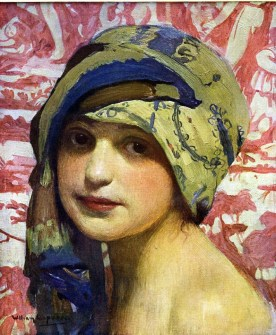 William Laparra (French artist, 1873-1920) Woman in Turban