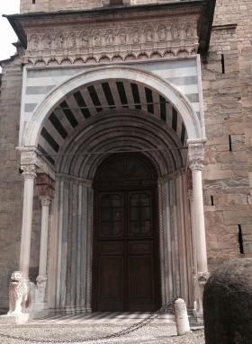 Entrance to Santa Maria Maggiore, Bergamo, Italy
