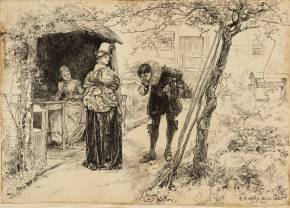 Illustration to 'Judith Shakespeare' 1883 Edwin Austin Abbey 1852-1911 Presented by a group of admirers through John Singer Sargent 1924 http://www.tate.org.uk/art/work/N03992