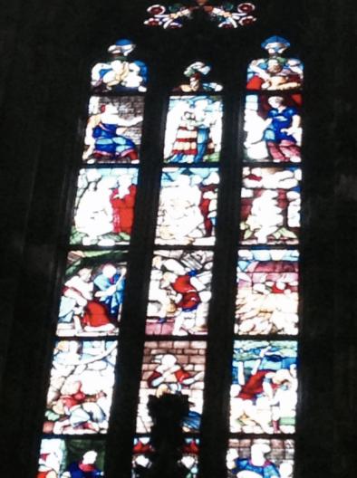 Giusppe Arcimbolodo, stained glass windows, 1596, Duomo, Milan, Italy